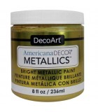 AMERICANA DECOR METALLICS 236 ML : AMERICANA DECOR METALLICS:MTL14 DORADO SUAVE