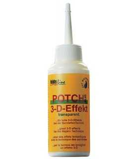 MEDIUM POTCH 3/D TRANSPARENTE HOBBY LINE 80 ML