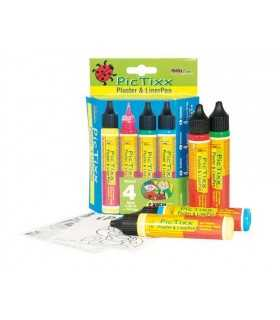 SET PINTURA RELIEVE PIC TIXX 4 COLORES x 29 ML