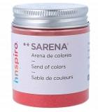 ARENAS DE COLORES SARENA BOTE 110 GRAMOS : SARENA:1705 ROJO FUERTE