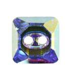 BOTÓN CUADRADO 3017 CRISTAL SWAROVSKI 10 MM : Unidades:Envase 2 Unidades, color:Cristal AB