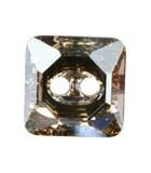 BOTÓN CUADRADO 3017 CRISTAL SWAROVSKI 10 MM : Unidades:Envase 2 Unidades, color:Golden Shadow