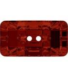 BOTÓN CHESSBOARD CRISTAL SWAROVSKI 30x16 MM : color:Crystal Red Magma