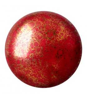 CABOCHON OPAQUE CORAL RED BRONZE 93210-15496 18 MM