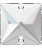 CABUCHÓN CUADRADO 2 AGUJEROS SWAROVSKI 22 MM : color:Cristal AB