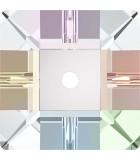 CUADRADO SWAROVSKI 8 MM 1 AGUJERO 5 UNIDADES : color:Cristal AB