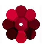 FLOR DE CRISTAL SWAROVSKI DE 6 MM : color:Siam, Unidades:Envase 25 Ud aprox.