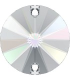 CABUCHÓN REDONDO SWAROVSKI DOS AGUJ. 10 mm 2 Ud : color:Cristal AB