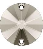 CABUCHÓN REDONDO SWAROVSKI DOS AGUJ. 10 mm 2 Ud : color:Crystal Satin
