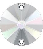 CABUCHÓN REDONDO SWAROVSKI DOS AGUJ. 14 mm 1 Ud : color:Cristal AB