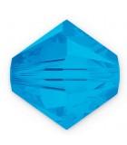 TUPI DE CRISTAL SWAROVSKI COLORES 4 mm 50 UNIDADES : color:Caribbean Blue Opal
