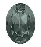 CABUCHON OVALADO CRISTAL SWAROVSKI DE 18 x 13 mm : Unidades:1 unidad, color:Black Diamond
