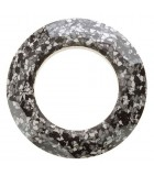 COSMIC RING SWAROVSKI CERAMICS 14 MM 1 UNIDAD : CERAMICS B:Marbled Black