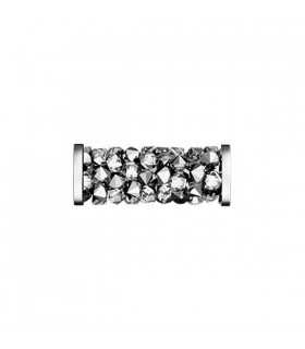 FINE ROCKS TUBE SWAROVSKI 15 MM ACERO LT CHROME