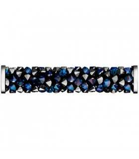 FINE ROCKS TUBE SWAROVSKI 30 MM BERMUDA BLUE ACERO