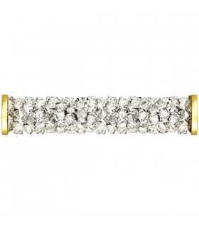 FINE ROCKS TUBE SWAROVSKI 30 MM MOONLIGHT DORADO