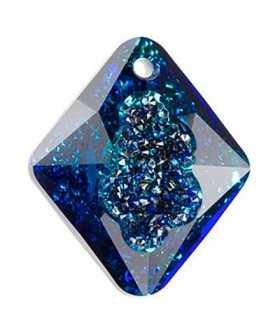 GROWING CRYSTAL RHOMBUS 26 MM CRYSTAL BERMUDA BLUE