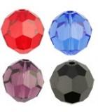 BOLA FACETADA SWAROVSKI 3 MM COLORES CLÁSICOS : Unidades:Envase 25 Ud aprox., color:Mix