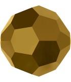 BOLA FACETADA SWAROVSKI 4 MM EFECTO : color:Dorado 2x, Unidades:Envase 10 Unidades
