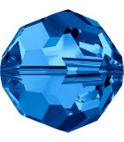 BOLA SWAROVSKI FACETADA 5000 6 MM COLORES CLÁSICOS : Unidades:Envase 10 Unidades, color:Capri Blue