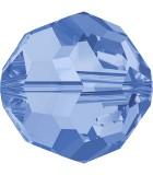 BOLA SWAROVSKI FACETADA 5000 6 MM COLORES CLÁSICOS : Unidades:Envase 10 Unidades, color:Light Sapphire