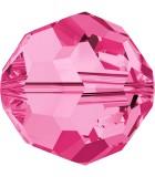 BOLA SWAROVSKI FACETADA 5000 6 MM COLORES CLÁSICOS : Unidades:Envase 10 Unidades, color:Rosa