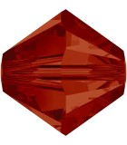 TUPI SWAROVSKI  CRYSTAL+EFECTO 4 mm 50 UNIDADES : color:Crystal Red Magma