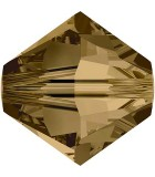 TUPI  SWAROVSKI CRYSTAL EFECTO 2X 4 mm 50 UNID. : color:Cryst Bronze Shade2x