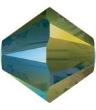 TUPI  SWAROVSKI CRYSTAL EFECTO 2X 4 mm 50 UNID. : color:IRIDESCENT GREEN 2x