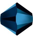 TUPI  SWAROVSKI CRYSTAL EFECTO 2X 4 mm 50 UNID. : color:Metallic Blue 2x
