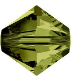 TUPI CRISTAL SWAROVSKI COLORES SATIN 4 mm 50 UNID. : color:Olivine