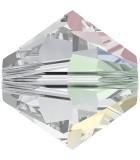 TUPI SWAROVSKI  CRYSTAL+EFECTO 6 mm 25 UNIDADES : color:Cristal AB