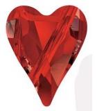 CUENTA CORAZÓN WILD 5743 SWAROVSKI 12 MM 2 Ud : color:Crystal Red Magma