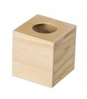 Caja pañuelos de madera Artemio 14x13x13 CM