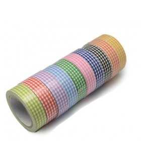 FABRIC TAPE ECO CUADROS 10 UD x 4 METROS 15 MM