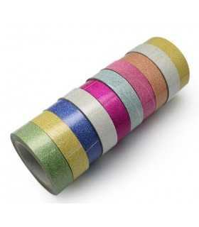 FABRIC TAPE ECO GLITTER 10 UD x 4 METROS 15 MM