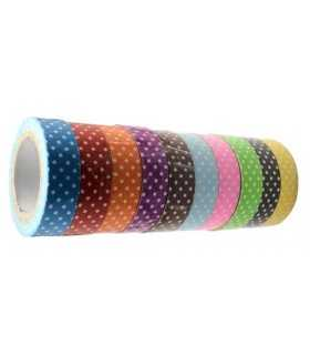 FABRIC TAPE ECO PUNTOS 10 UD x 4 METROS 15 MM