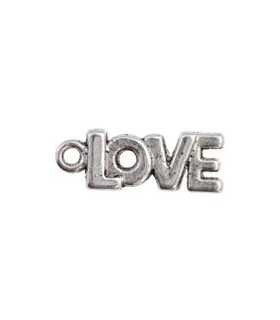 LOVE METAL 21x8x2 MM PLATA ENV. 50 UNIDADES