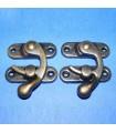 Cierre caja hierro bronce anti. 45x40x3,8 mm 5 ud