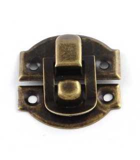 Cierre caja hierro bronce anti. 29x27x6 mm 5 ud