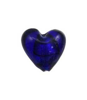 CORAZÓN SILVER FOILED AZUL 20 MM AG 2 MM 4 UD