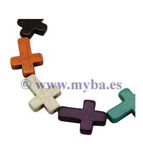 CRUCES HOWLITA TEÑIDA 30x22x6 MM MIX 2 PARES