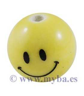 BOLAS PORCELANA SMILEY 16 MM AGUJERO 3 MM 5 UD