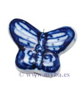 MARIPOSAS PORCELANA 21x20x8 MM MIX AZUL 2 UD