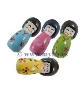MUÑECAS PORCELANA 30x13 MM 2 UD MIX COLORES