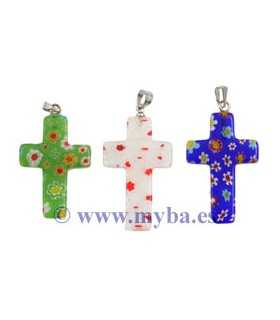 CRUCES MILFLORES C/ANILLA 20x30 MM MIX 3 UNIDADES