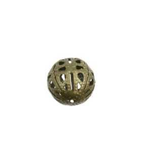 BOLA METAL FILIGRANA 12 MM 25 UNIDADES