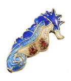 CABALLITO CLOISONNE 25x12x4 MM AGUJERO 1 MM 1 UD : color:Azul Oscuro