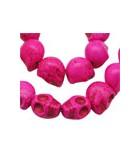 CALAVERAS HOWLITA TEÑIDA 18x17 MM 5 UNIDADES : color:Rosa Oscuro