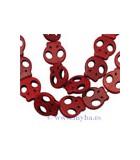 CALAVERAS HOWLITA TEÑIDA 22x20 MM 10 UNIDADES : color:Rojo
